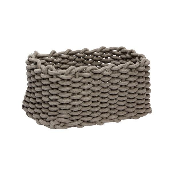 korb geflochten baumwolle grau klein eckig kaufen bei. Black Bedroom Furniture Sets. Home Design Ideas