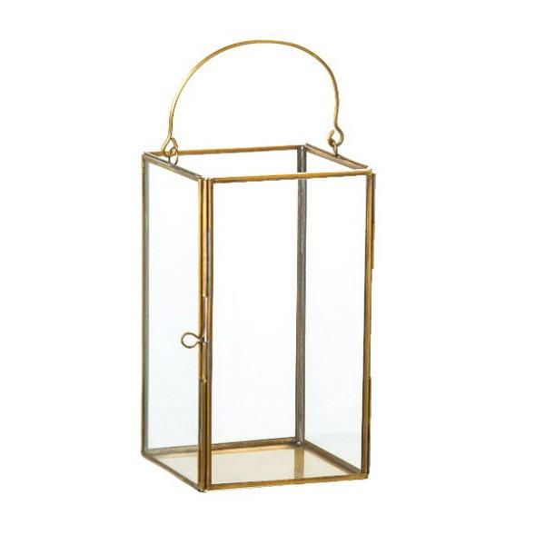vera glas laterne mit metall in gold kaufen bei. Black Bedroom Furniture Sets. Home Design Ideas