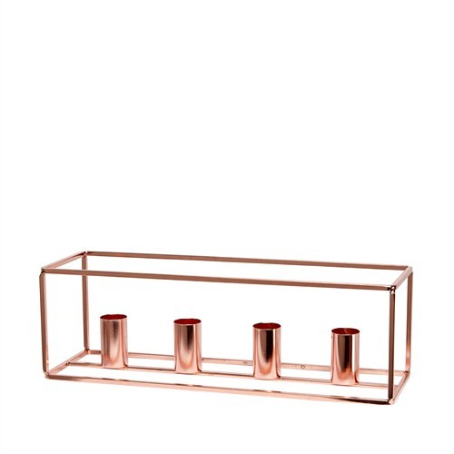 kerzenst nder f r 4 kerzen metall kupfer kaufen bei. Black Bedroom Furniture Sets. Home Design Ideas