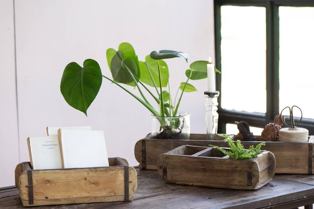 ib laursen onlineshop unika aufbewahrungsbox mit drei f chern aus holz 31 cm. Black Bedroom Furniture Sets. Home Design Ideas