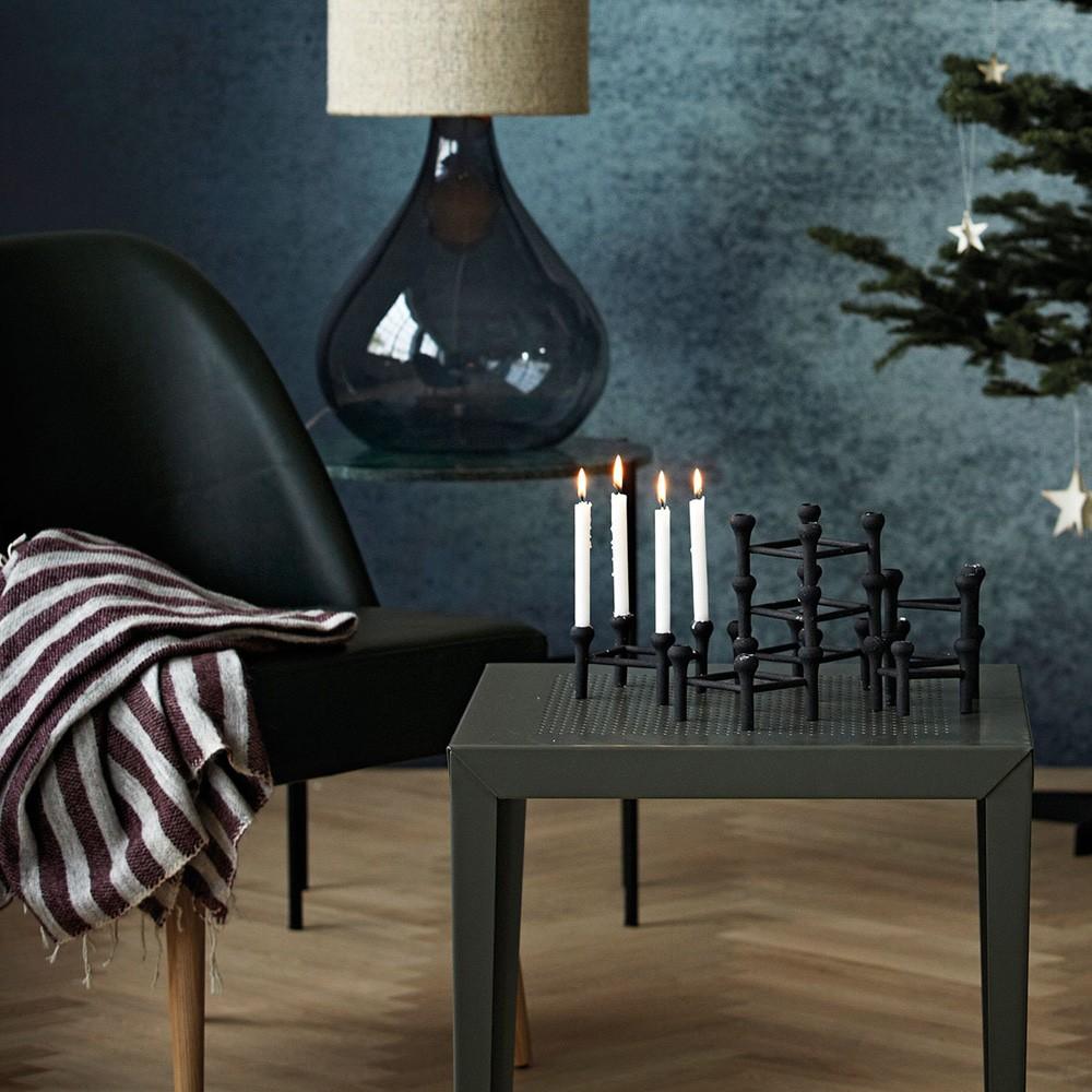 house doctor onlineshop kerzenst nder molecular silber 10 5 cm. Black Bedroom Furniture Sets. Home Design Ideas